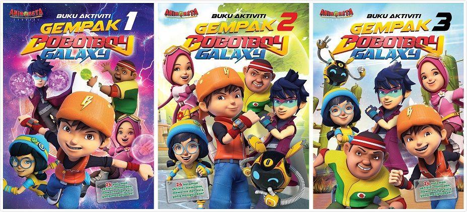 Gambar Mewarna Boboiboy Penting Buku Aktiviti Gempak Boboiboy Galaxy 2