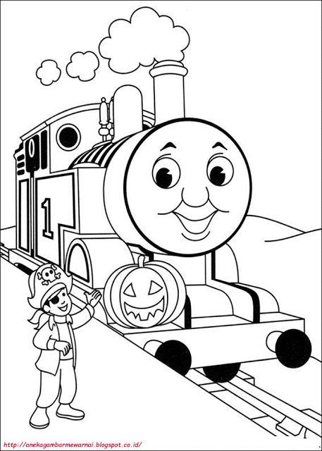 aneka gambar mewarnai gambar mewarnai thomas and friends untuk anak paud dan tk gambar berikut