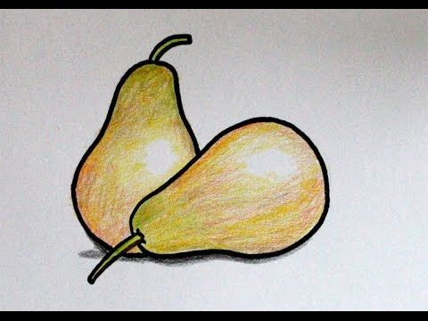 Gambar Mewarna Buah Manggis Baik Cara Menggambar Buah Pear Pir Youtube