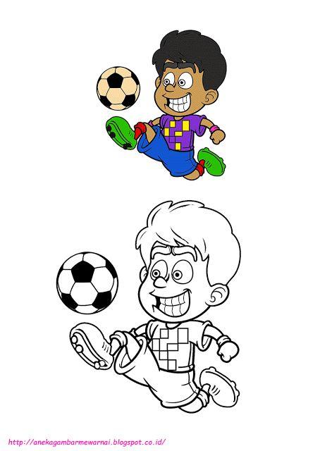 Gambar Mewarna Dora Meletup Aneka Gambar Mewarnai Gambar Mewarnai Bermain Bola Untuk Anak Paud
