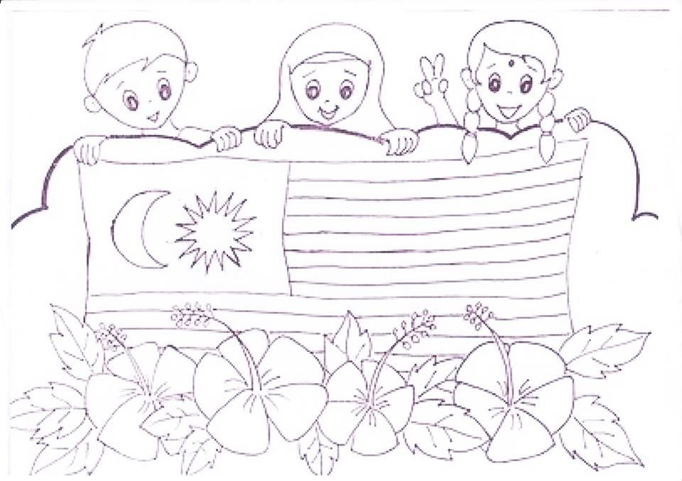Gambar Mewarna Hari Kemerdekaan Malaysia Terhebat Panitia Psv Dsv Sk Parit Kasan Kertas Mewarna Kemerdekaan 2