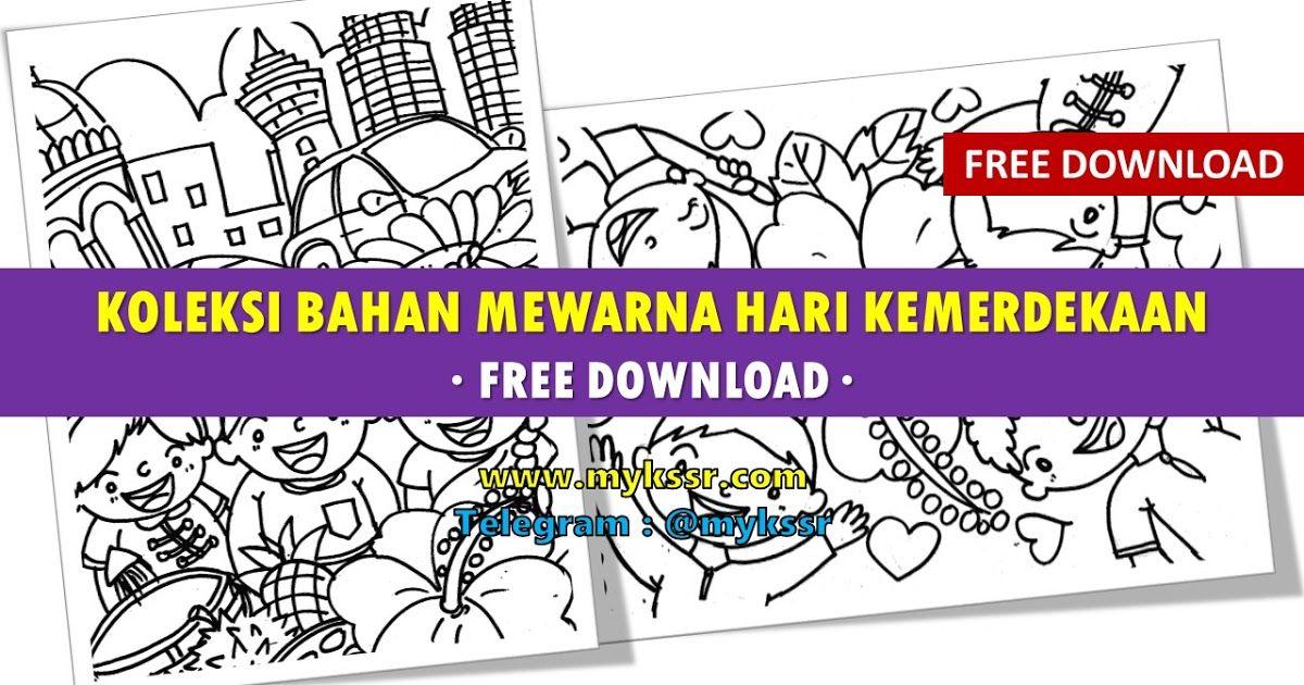 Gambar Mewarna Hari Merdeka Menarik Koleksi Bahan Mewarna Hari Kemerdekaan Free Download Mykssr Com