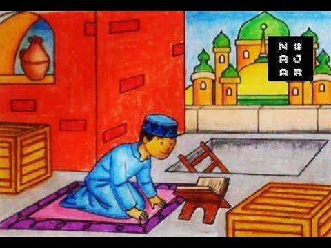Download Cepat Bermacam Contoh Gambar Mewarna Kartun Ana Muslim Yang