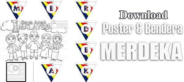 himpunan poster merdeka dan gambar mewarna merdeka 2018