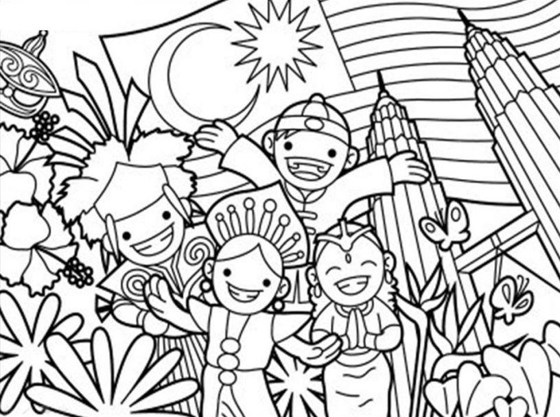 Download Himpunan Contoh Gambar Mewarna Kemerdekaan Yang Hebat Dan Boleh Di Download Dengan Mudah Gambar Mewarna