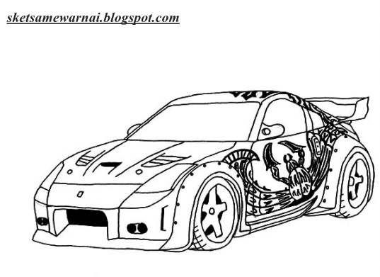 48 Gambar Mobil Kartun Mewarnai Terbaik