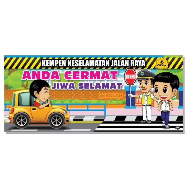 Contoh Lukisan Poster Keselamatan Jalan Raya Cikimmcom