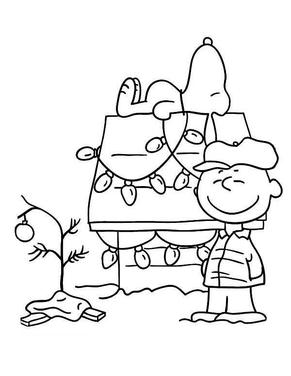 charlie brown christmas coloring pages christmas tree