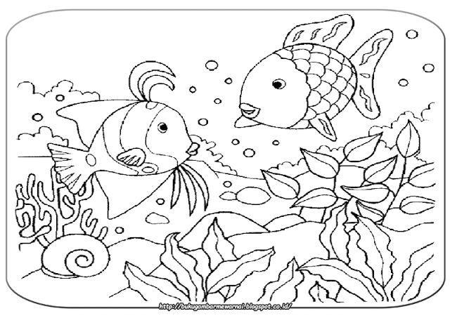 gambar mewarnai mewarnai gambar pemandangan bawah laut gambar di atas adalah gambar mewarna