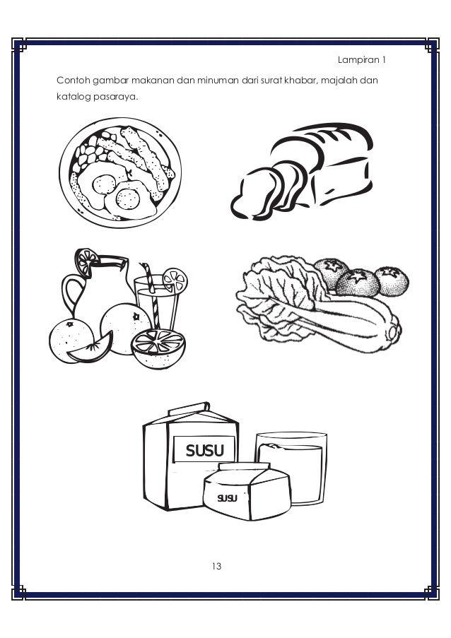 Gambar Makanan Berkhasiat Untuk Diwarnai