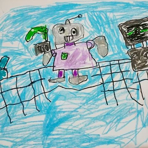 judul gambar robot serang serangan di ka pret baca karpet
