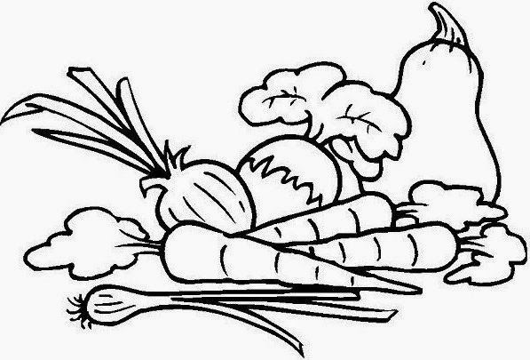 Download Cepat Himpunan Contoh Gambar Mewarna Sayur Sayuran Yang