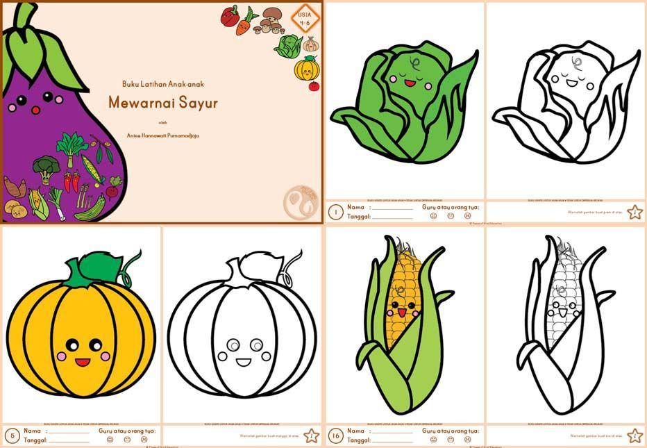 Gambar Mewarnai Sayur Sayuran