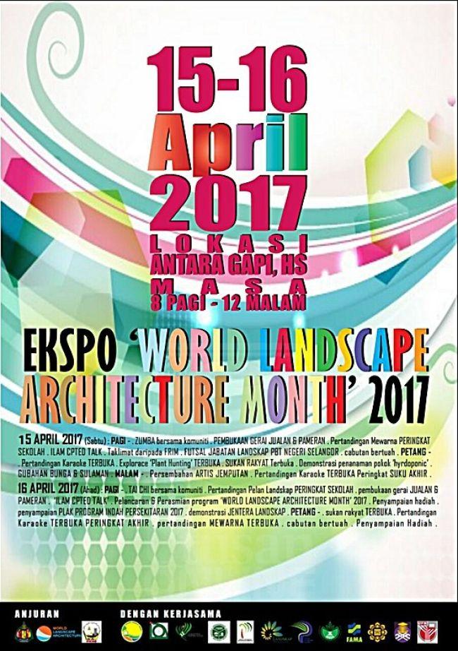 Gambar Mewarna Suasana Hari Raya Berguna Mdhs Anjur Ekspo World Landscape Architecture Month 2017 Kl