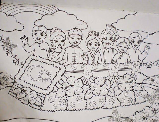 Gambar Mewarna Suasana Hari Raya Terhebat Wansteddy Tales August 2014
