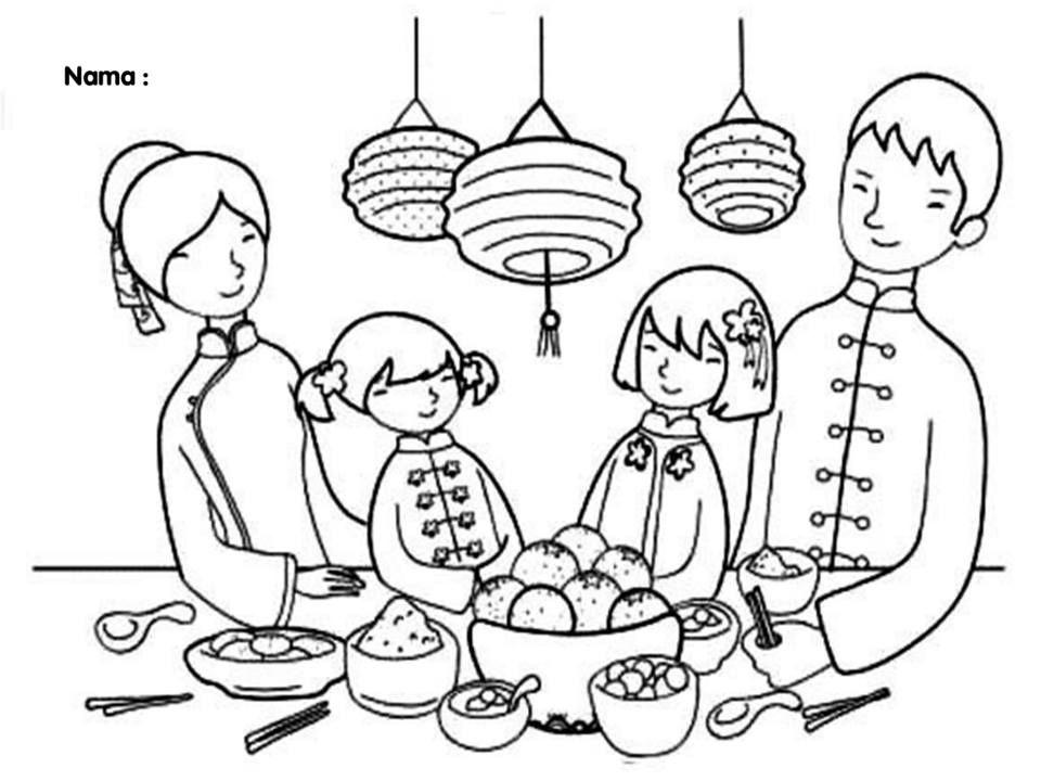 Muat Turun Segera Pelbagai Contoh Gambar Mewarna Tahun Baru Cina