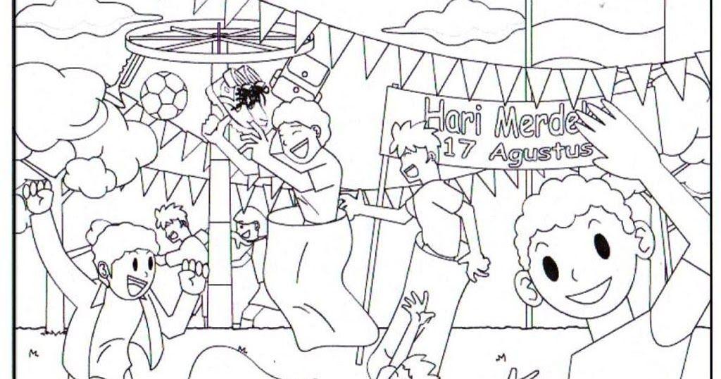 Gambar Mewarna Tema Kemerdekaan Penting Contoh Gambar Karikatur Bertema Kemerdekaan Contoh Ko