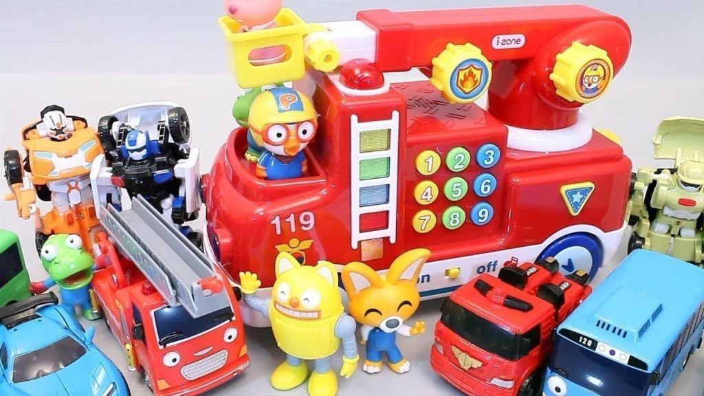 Gambar Mewarna tobot Penting Pororo Fire Engine toys tobot Tayo Fix tobot Robot Poli Car Daftar