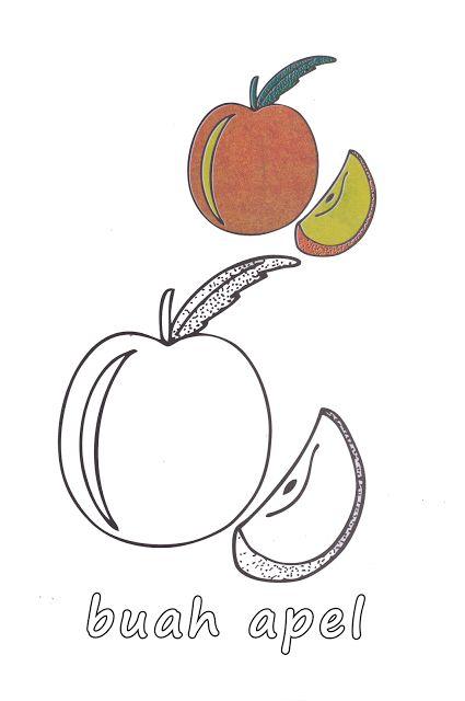aneka gambar mewarnai gambar mewarnai buah apel dan mangga untuk anak paud dan tk gambar beriku