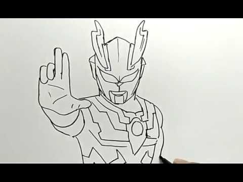 cara menggambar ultraman how to draw ultraman