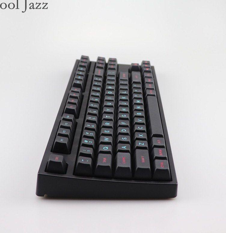 keren jazz miami terukir mewarnai sa font keycap untuk cherry mx keyboard mekanik pbt keycaps iso
