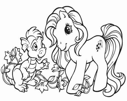 Dapatkan Pelbagai Contoh Gambar Pony Untuk Mewarna Yang Awesome Dan