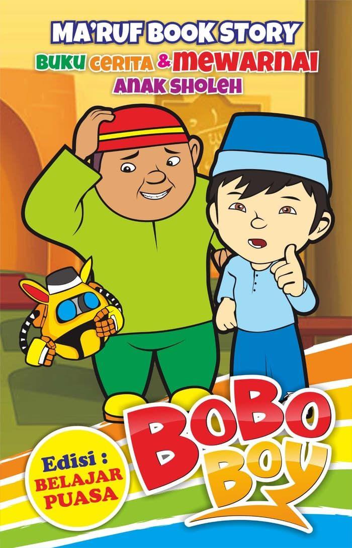 boboboy buku cerita dan mewarnai edisi ramadhan