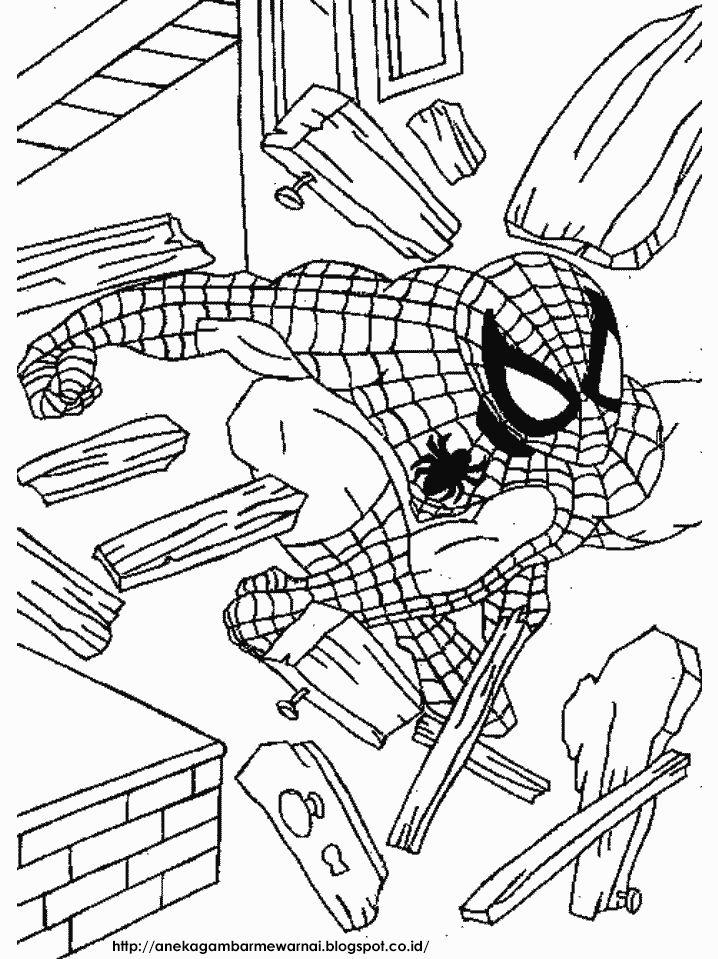 Gambar Untuk Mewarna Upin Ipin Berguna Aneka Gambar Mewarnai Gambar Mewarnai Spider Man Untuk Anak Paud