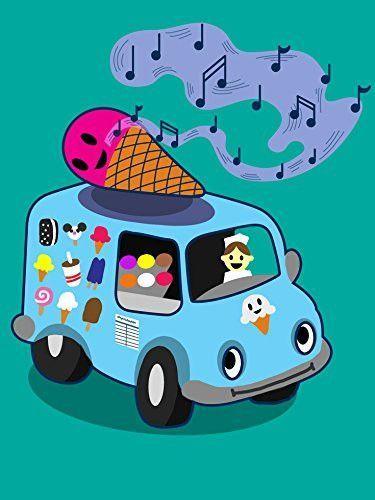 Ice Cream Poster Baik Ice Cream Truck Funny Ice Cream Cone Singing 18×24 Vinyl Print