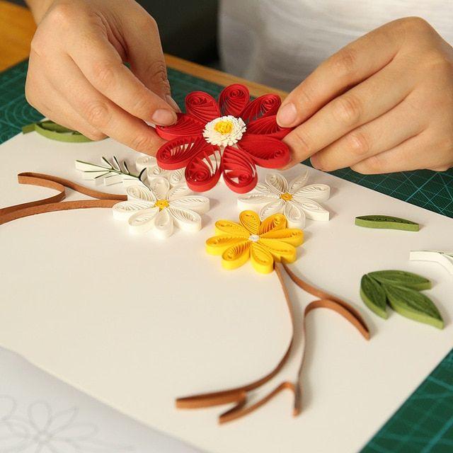 Imej Kertas Lukisan Meletup Paket Pola Rusa Kecil Bunga Kertas Quilling Kertas Bahan Lukisan