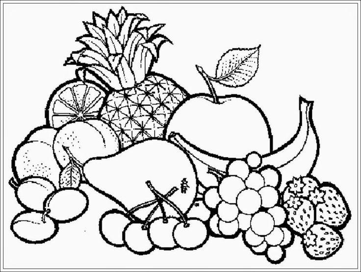 mewarnai gambar buah buahan dalam keranjang mewarnai pinterest coloring pages coloring books and art pictures