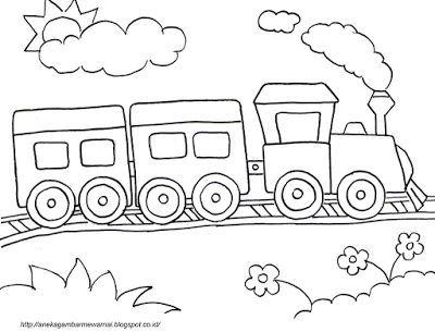 Kertas Lukisan Buah-buahan Untuk Mewarna Hebat Aneka Gambar Mewarnai Gambar Mewarnai Kereta Api Untuk Anak Paud