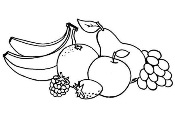 Kertas Lukisan Buah-buahan Untuk Mewarna Menarik Mewarnai Gambar Buah Buahan Wallpaper Pinterest Projects to