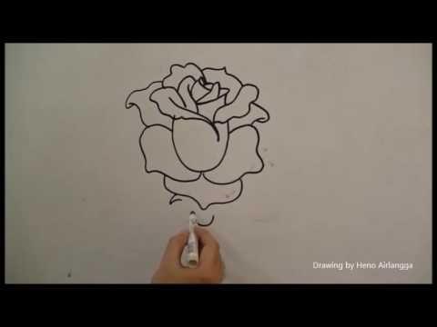 Kertas Lukisan Mewarna Bunga Baik Belajar Mudah Menggambar Bunga Mawar Youtube