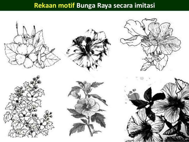 motif bunga raya hibiscus 5