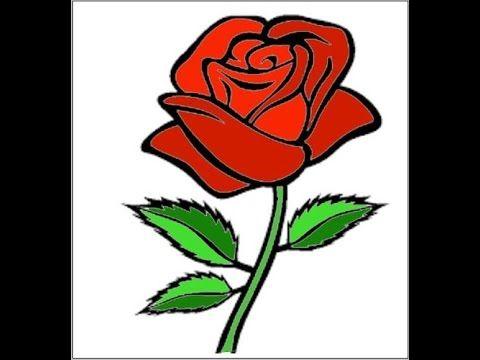 Kertas Lukisan Mewarna Bunga Terbaik Cara Menggambar Bunga Mawar Merah Berduri Indahhhhh Youtube