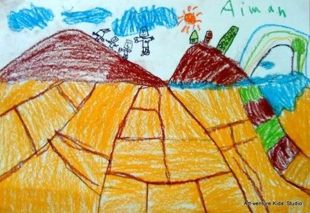 Kertas Lukisan Mewarna Pemandangan Menarik Lukisan Kanak Kanak Art Venture Kids Studio