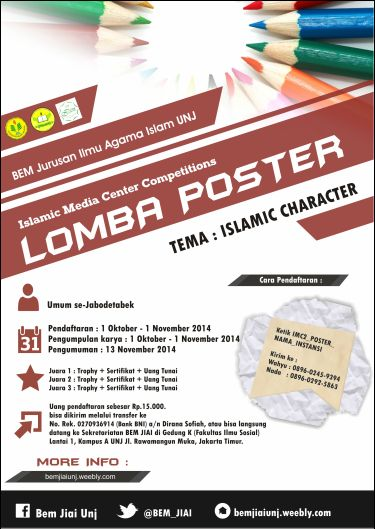 Lomba Poster Hebat Lomba Poster islamic Media Center Competitions 2014 Bem Jurusan