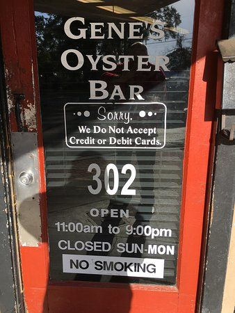 No Smoking Poster Terbaik Genuine Oyster Bar Picture Of Gene S Oyster Bar Panama City