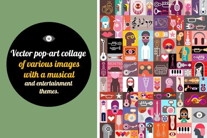 new pop art vector collage by danjazzia