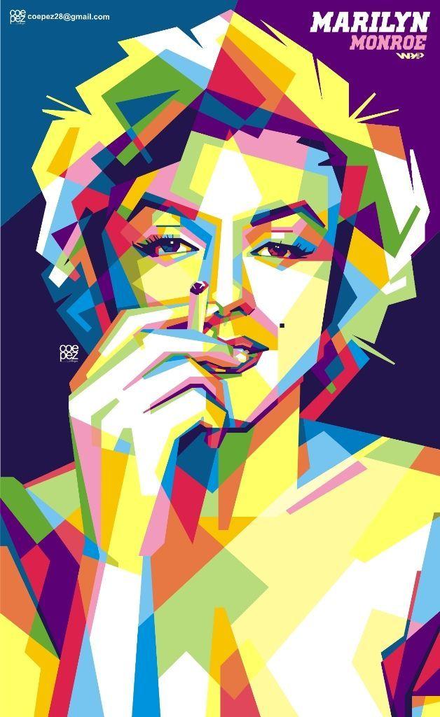 ngudud njembarke ati marilyn monroe pop art portraits pop art illustration