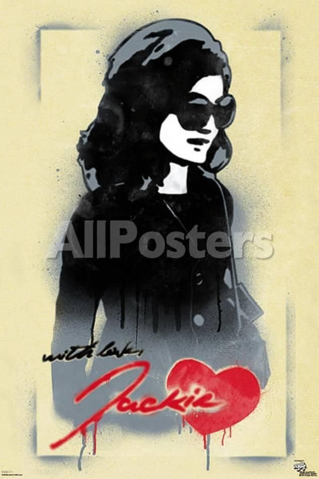 jackie o with love pop art poster by ronald martinez people poster 61 x 91 cm