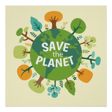 save the planet earth illustration poster declare you care and get yours now