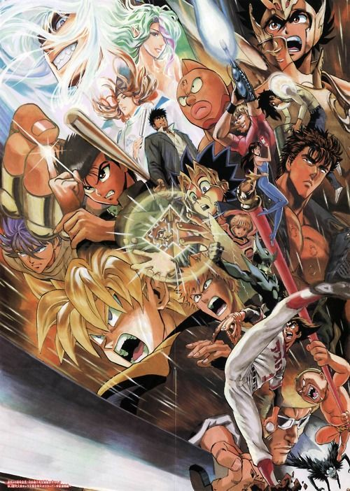 Poster Anime Terbaik 40th Anniversary Poster for Shonen Jump Anime Love Anime Manga