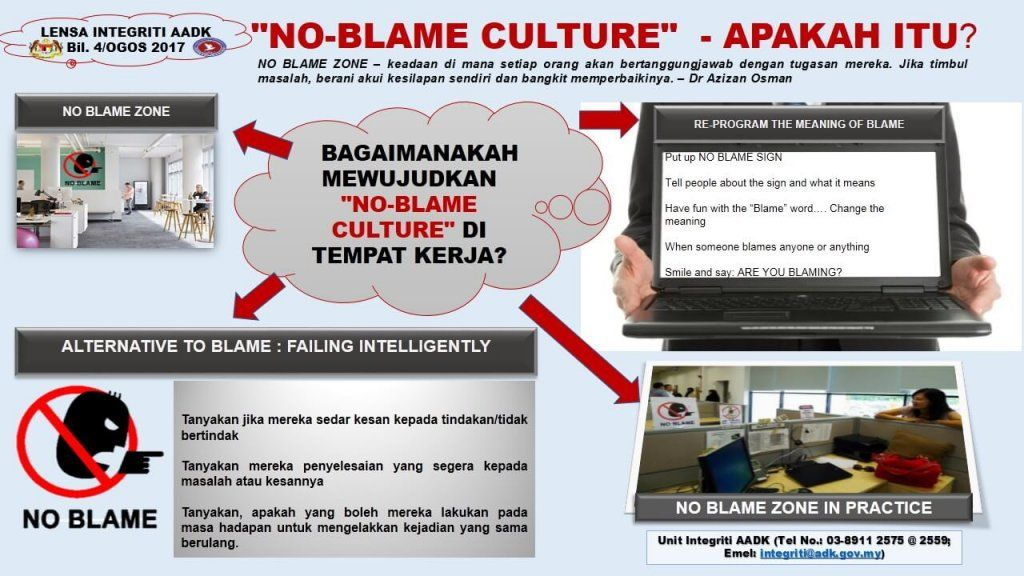 no blame culture
