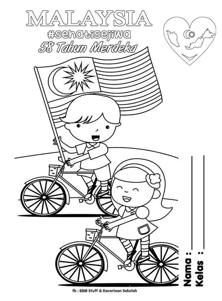 Poster Bendera Malaysia Mewarna Hebat Merdeka Coloring Pages for Kids Parenting Times Malaysia