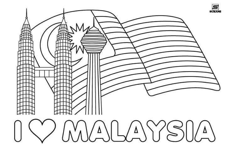 Poster Bendera Malaysia Mewarna Meletup Lukisan Hari Kemerdekaan Malaysia Brad Erva Doce Info