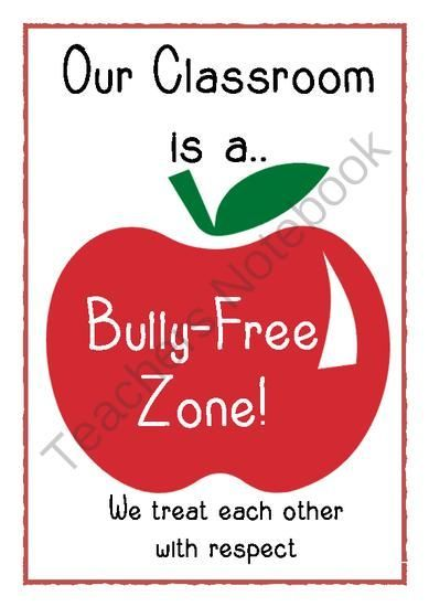 bully free zone poster from little learners little hands and feet big potential on teachersnotebook com 1 page