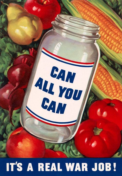 Poster Food Berguna Can All You Can Vintage Canned Goods Ads Canning Food Preserves