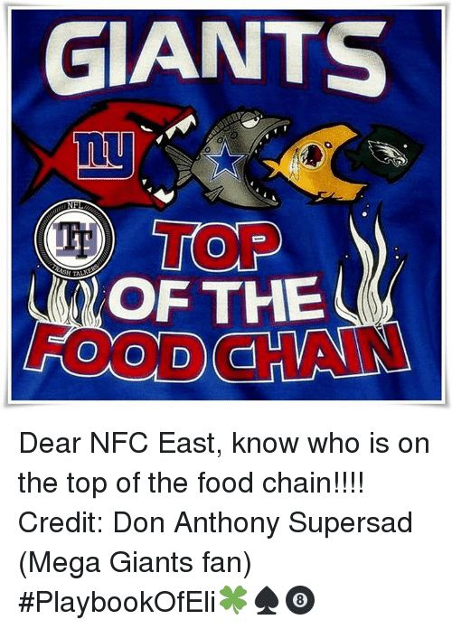 Poster Food Power Giants M Mu D top Of the 0dd Dear Nfc East Know who is On the top